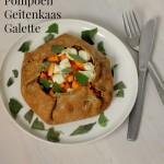 Vegetarisch Kerstmenu II Hoofdgerecht: Pompoen Geitenkaas Galette