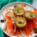 Vegetarisch Kerstmenu I Voorgerecht: Gezondere Mini Wortel Quiche