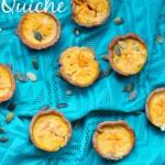 Vegetarische Hapjes: Pompoen Cottage Cheese Mini Quiche