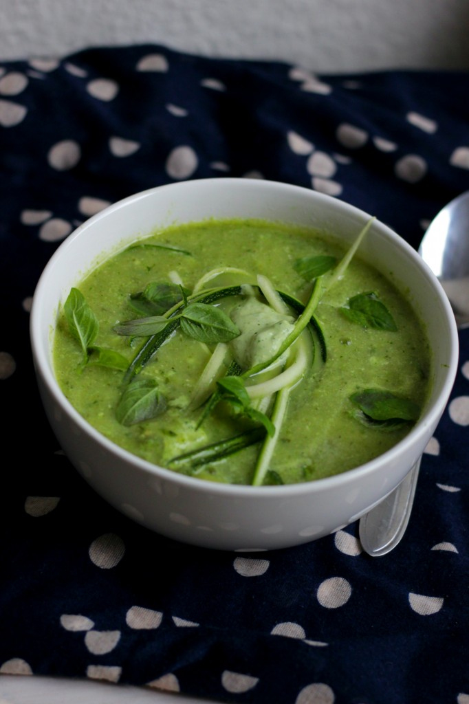 creamy courgette soep