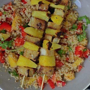 Ananas Kokos Tofu Spiesjes