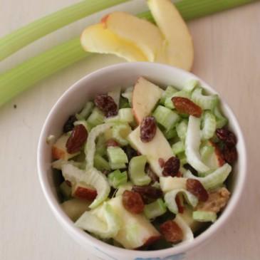 Bleekselderij Appel Rozijn Salade