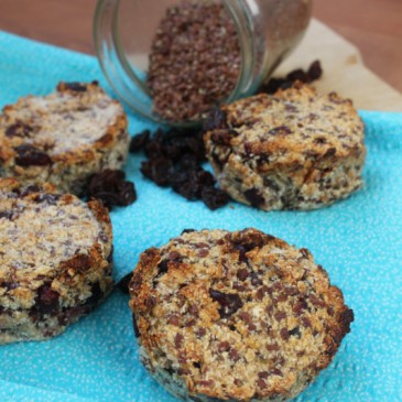 Kokos-Rozijn Lijnzaad muffins