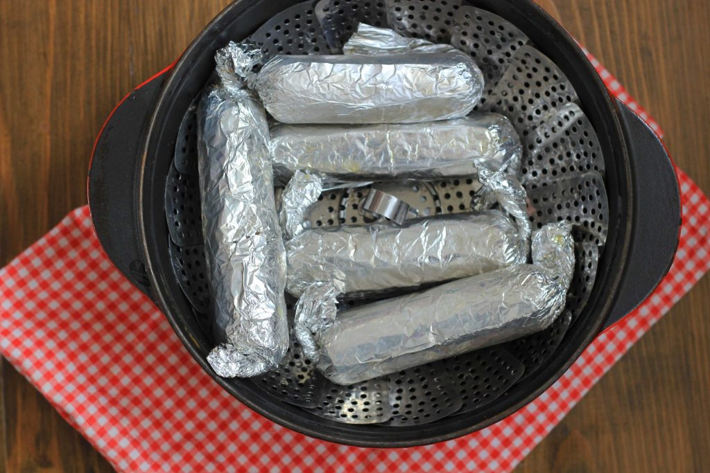 vegetarische worstjes zelfs maken