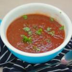 Geroosterde Aubergine en Tomaat soep