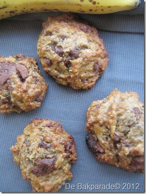 Karamel Chocolate Chip Banaan Koekjes