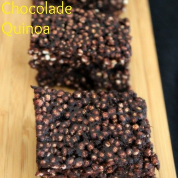 Gepofte Quinoa Chocolade Repen