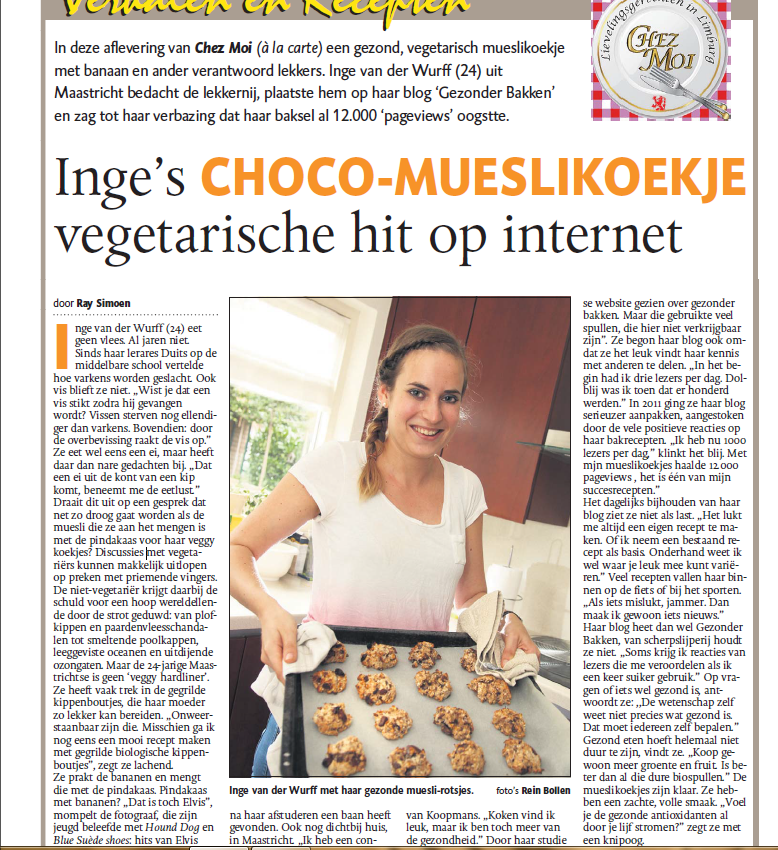 De Bakparade in Dagblad de Limburger