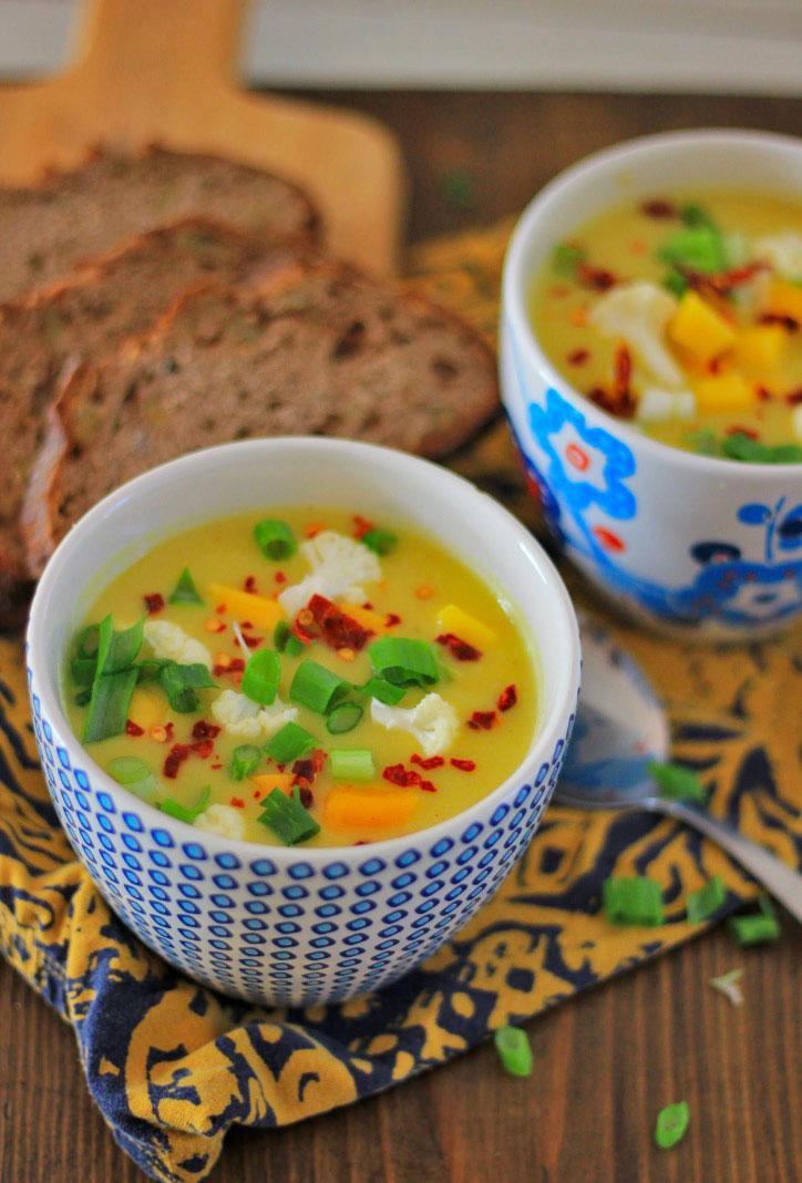 mango bloemkool soep