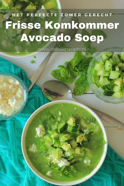 Komkommer Avocado Soep