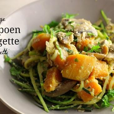 Gezondere Romige Pompoen Courgette Spaghetti