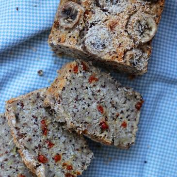 Glutenvrij Suikervrij Quinoa Banaanbrood