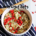 Goji Bes Peer Overnight Oats