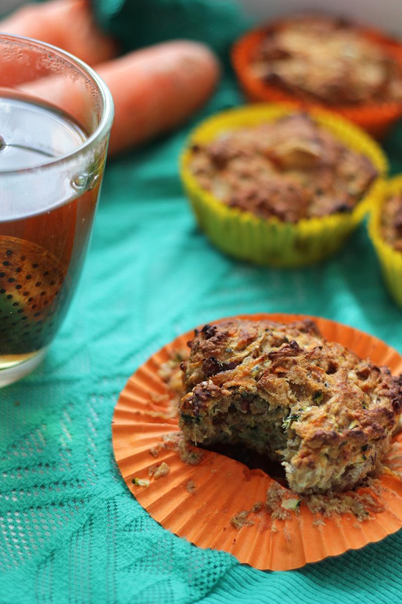 Courgette Wortel Muffins