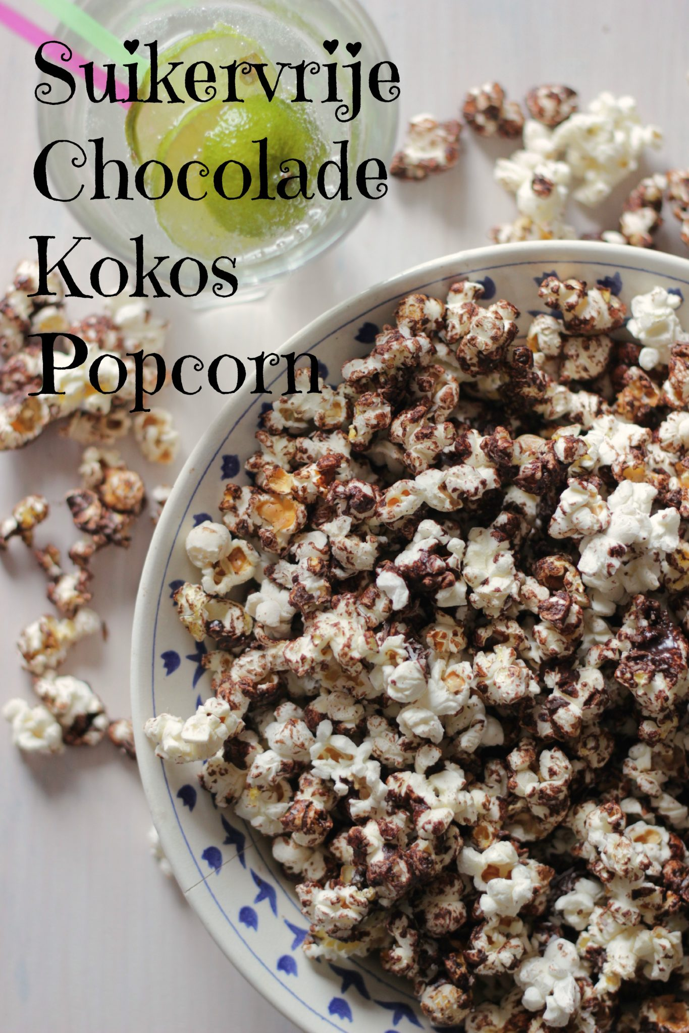 Suikervrije Chocolade Kokos Popcorn