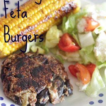Aubergine Feta Couscous Burgers