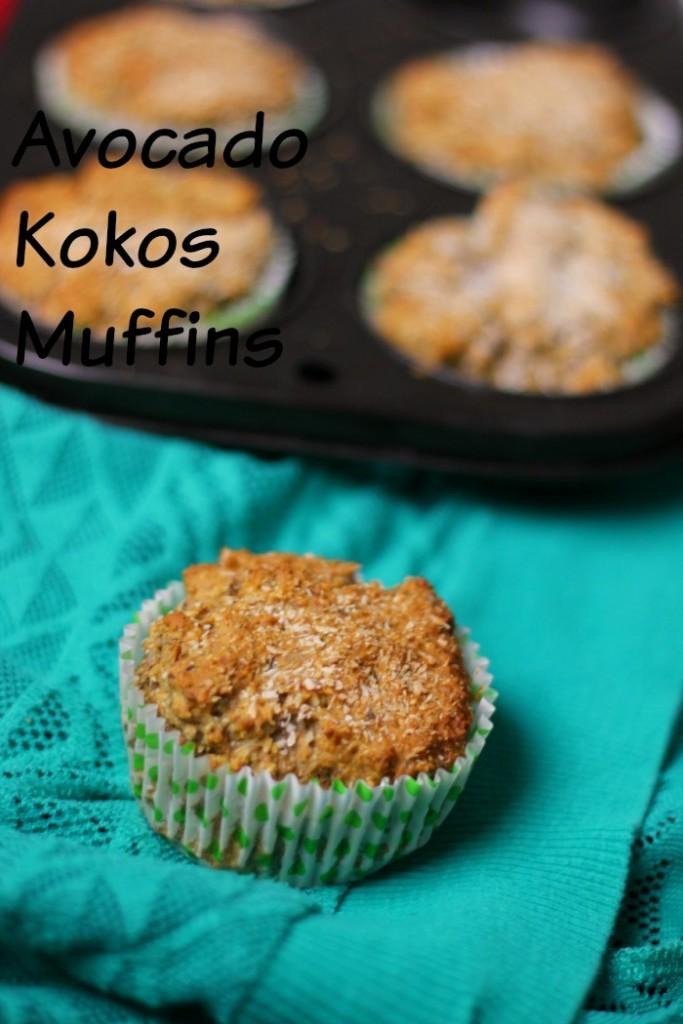 avocado kokos muffins