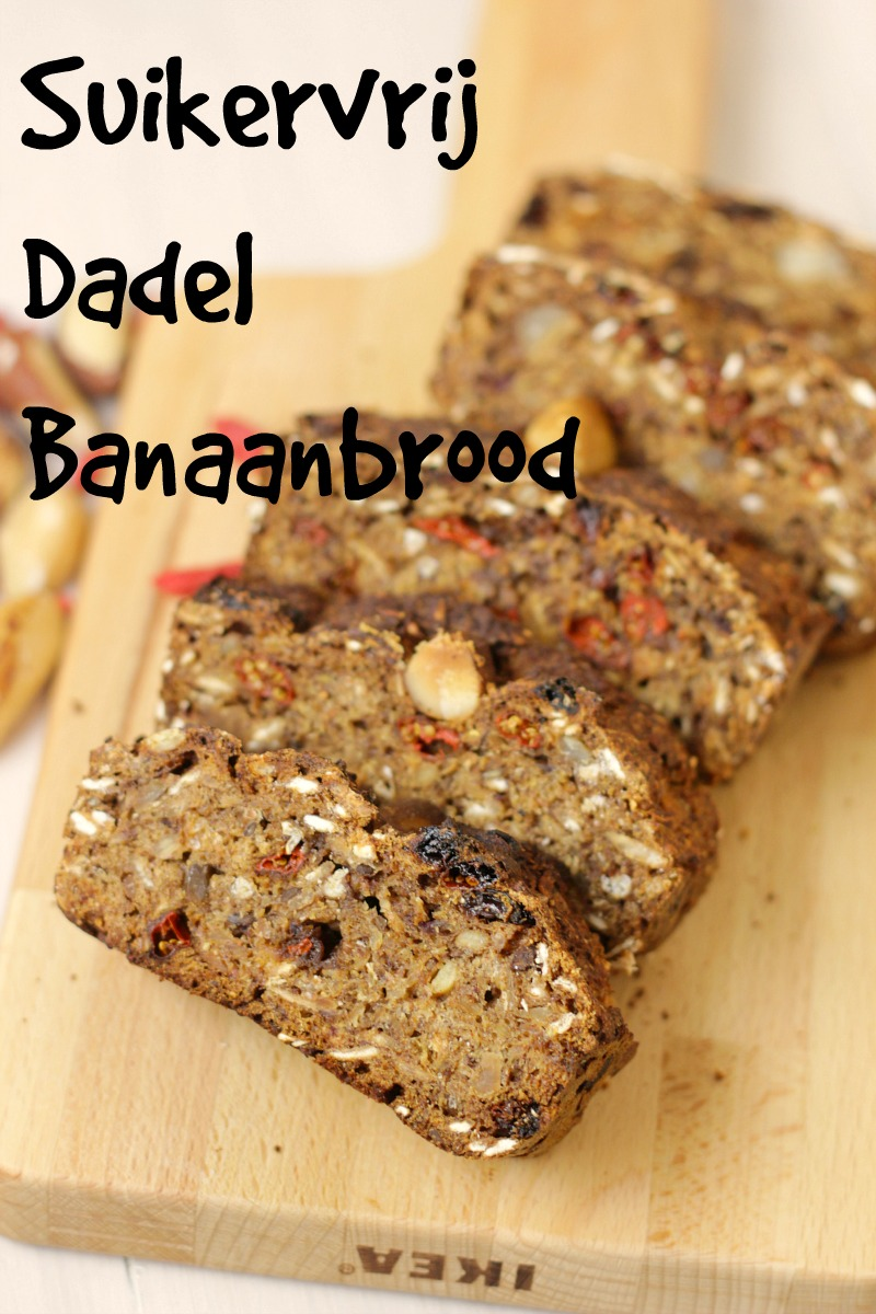 Suikervrij Banaan Brood met Dadel