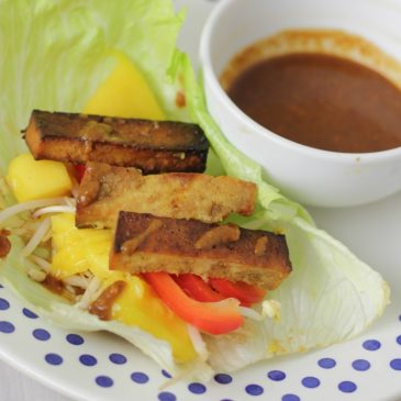 Mango Tofu met Sweet and Spicy Dipsaus