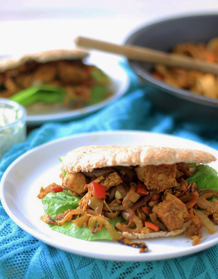vegetarische tofu shoarma