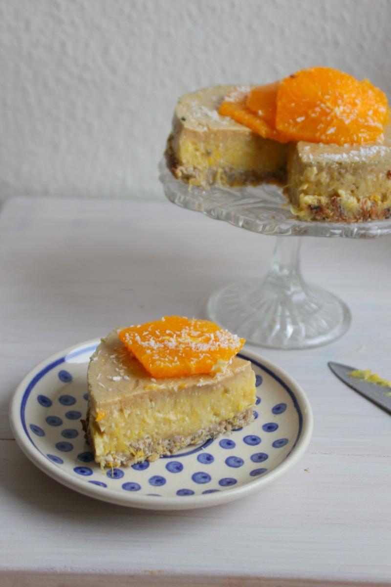 Frisse Suikervrije Sinaasappel Banaan Taart