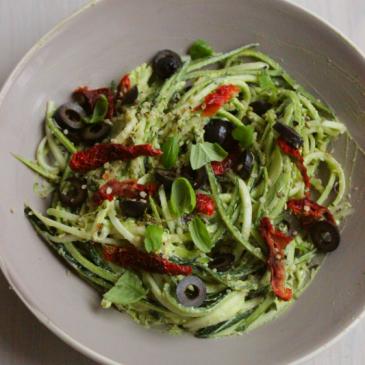 Snel en gemakkelijk voor Een: Courgette Avocado Pasta