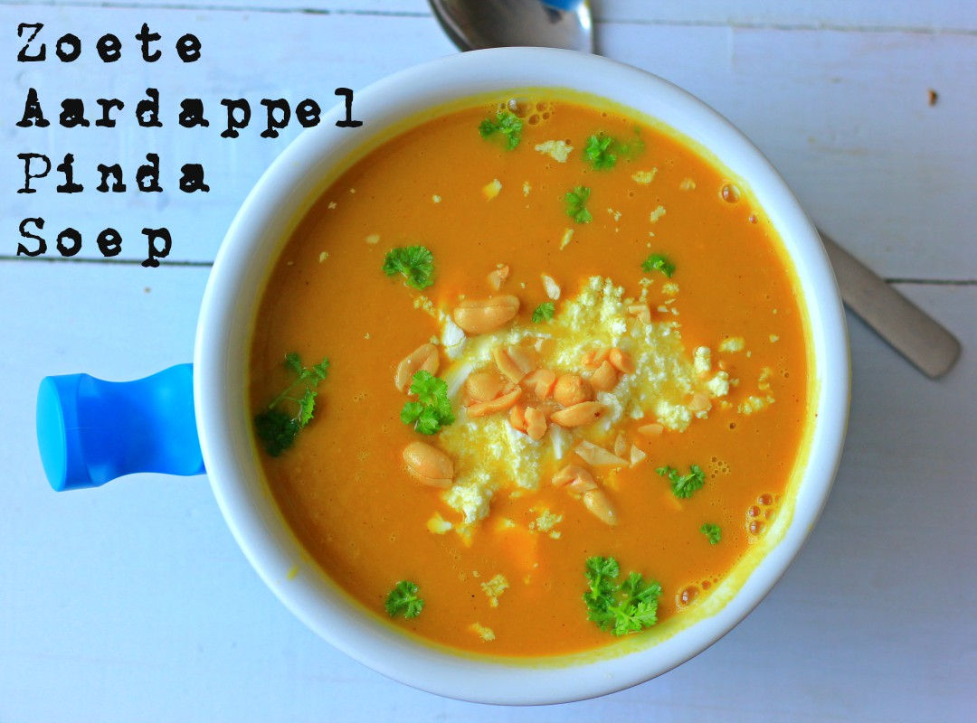 Zoete aardappel Pinda soep
