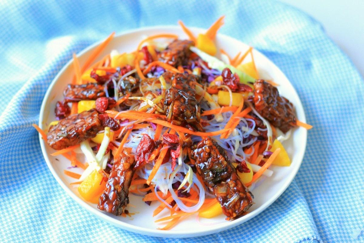 Asian Noodle Salade met Tempeh