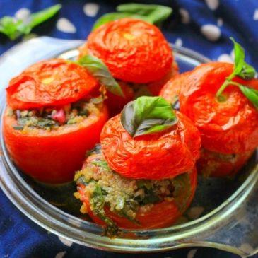 Gevulde Quinoa Spinazie Tomaten