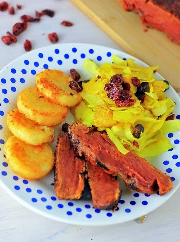 vegetarisch kerst diner vegetarische ham