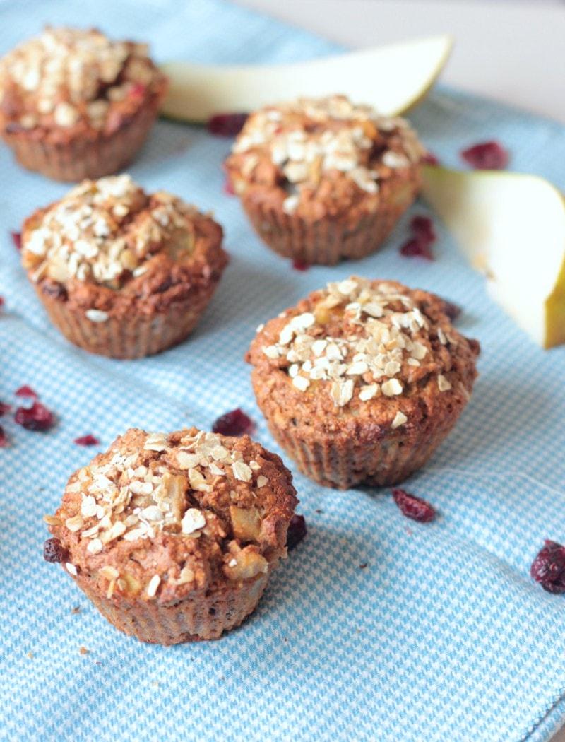 Havermout Peer Muffins (Vegan)