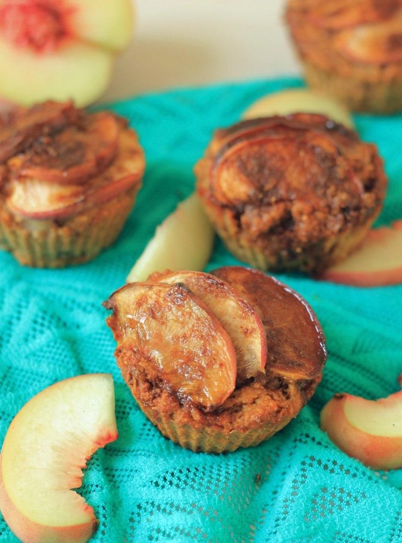 Vegan Healthy Perzik muffins