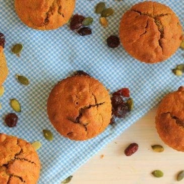 Vegan Kruidige Pompoen Muffins