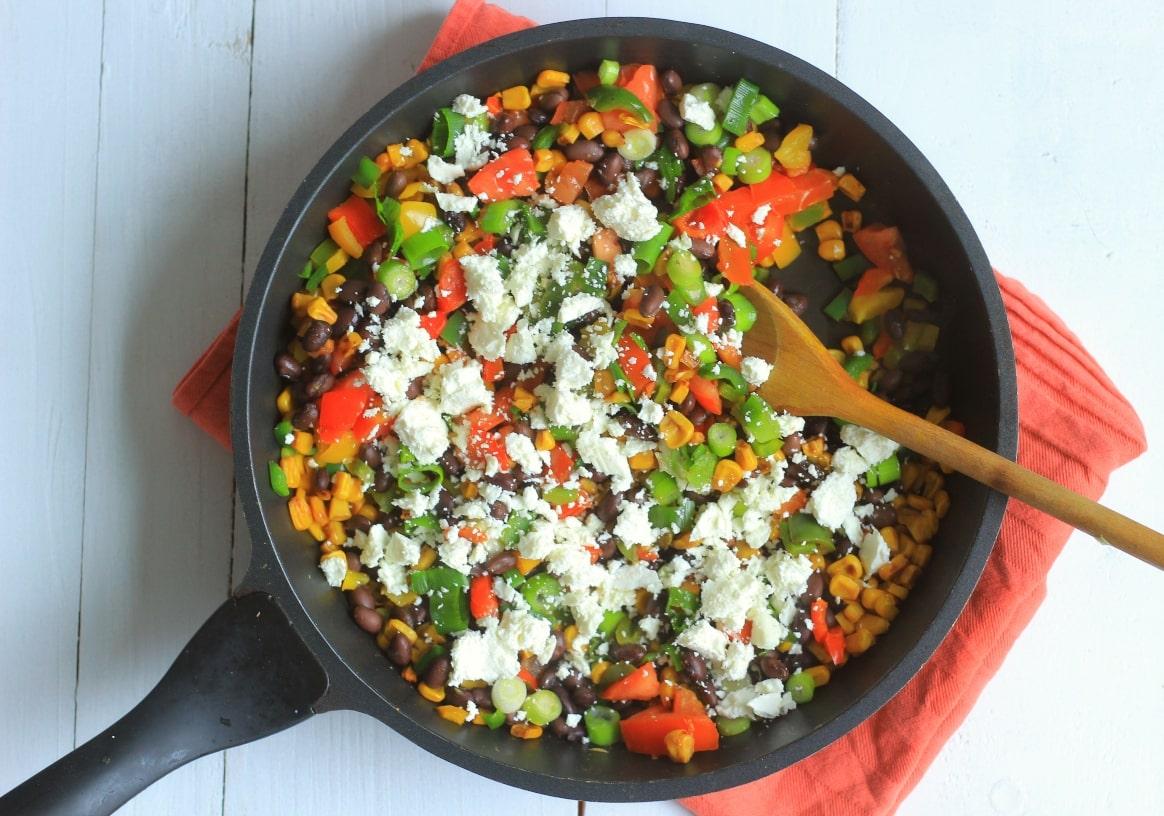 Lauwwarme Mexicaanse Mais salade