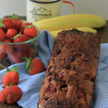 Aardbeien Chocolade Banaanbrood
