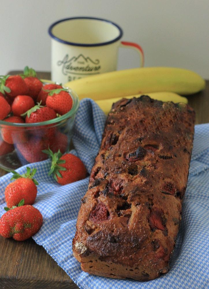 aardbei banaanbrood