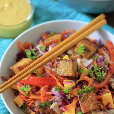 Mango Tofu met Frisse Noedel Salade