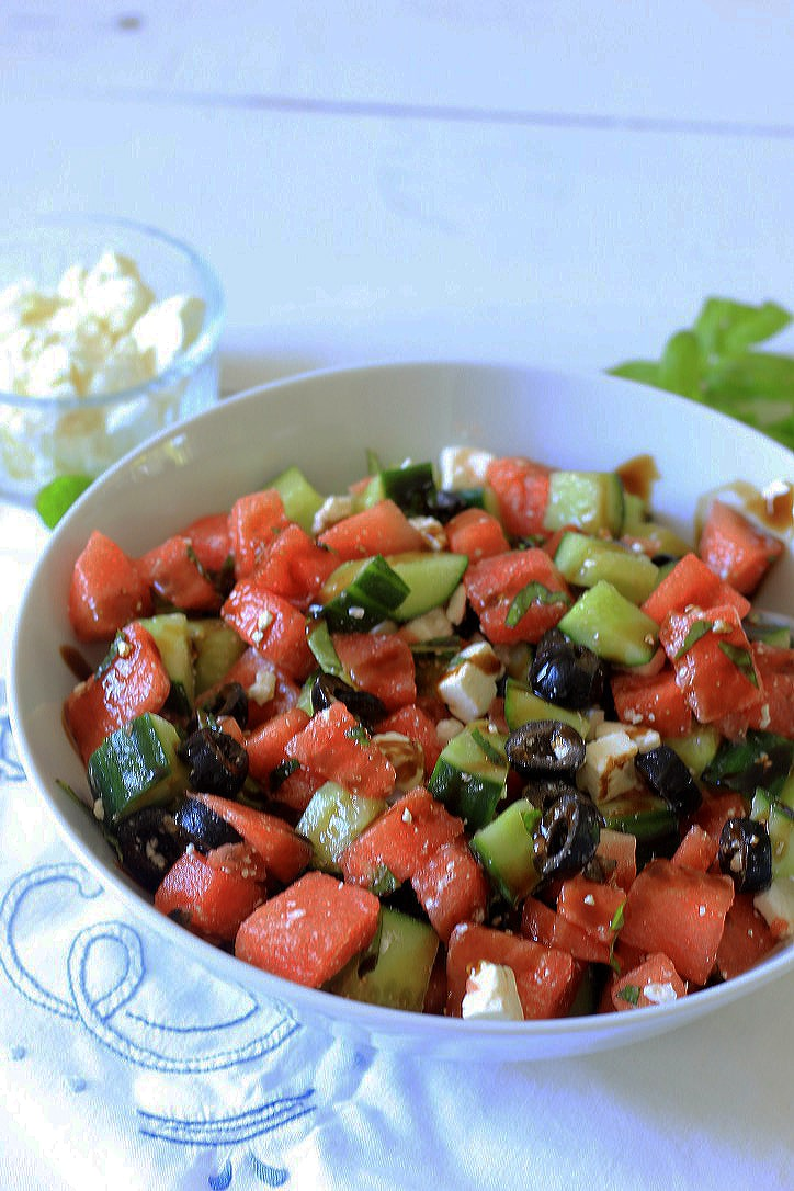 Frisse Watermeloen Feta Salade