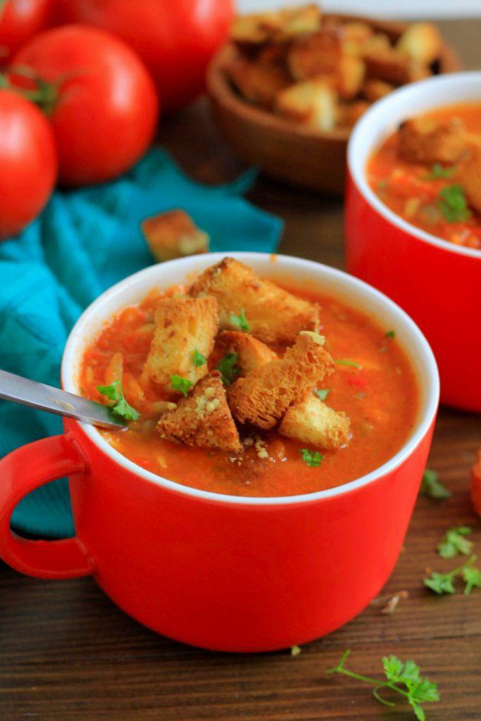 Tomaat paprika soep