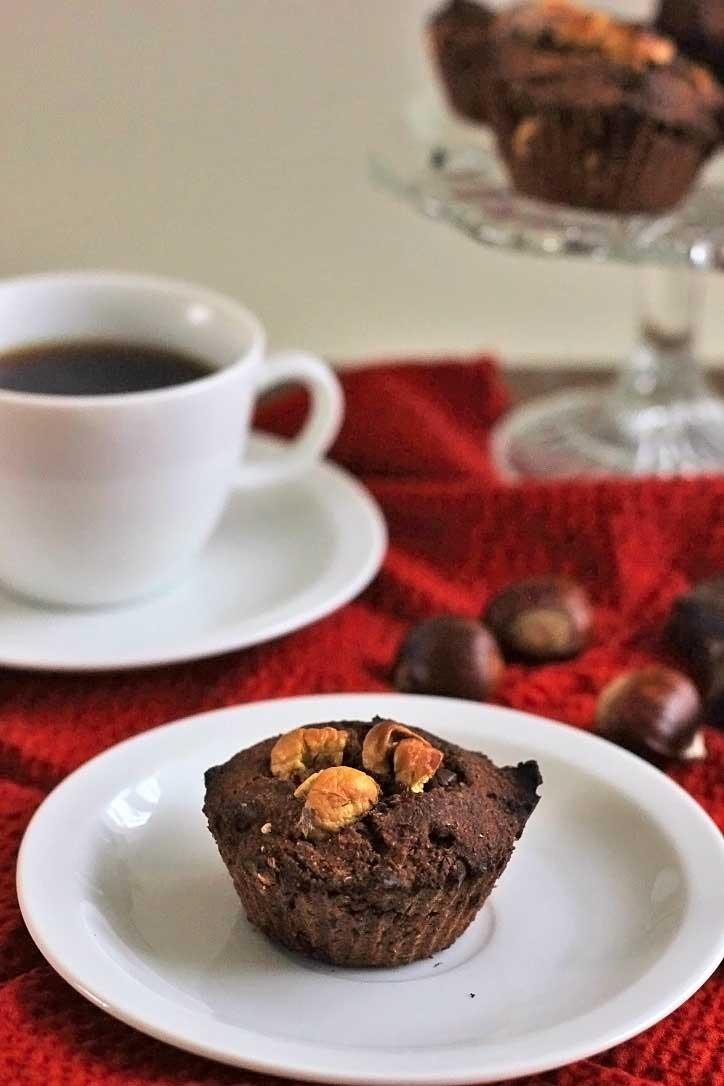 Kastanje Muffins met Chocolade | Glutenvrij
