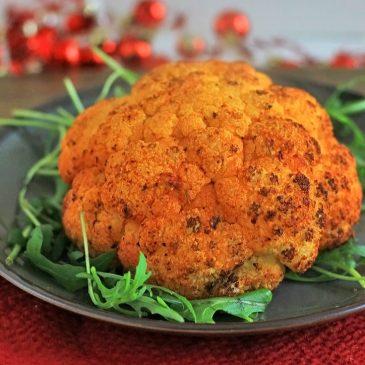 Vegetarisch Kerst Bijgerecht: Hele geroosterde bloemkool